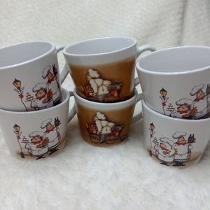 Set of 6 Trisa 5 Oz Espresso Mugs Cafe Coffee